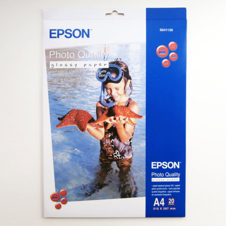 Бумага Epson Photo Quality Glossy Paper (20 листов A4)