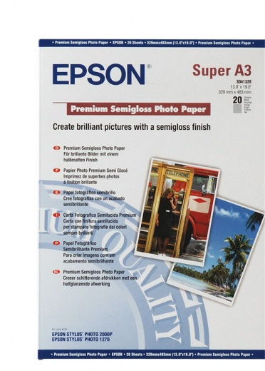Бумага Epson Premium Semigloss Photo Paper (20 листов A3+)