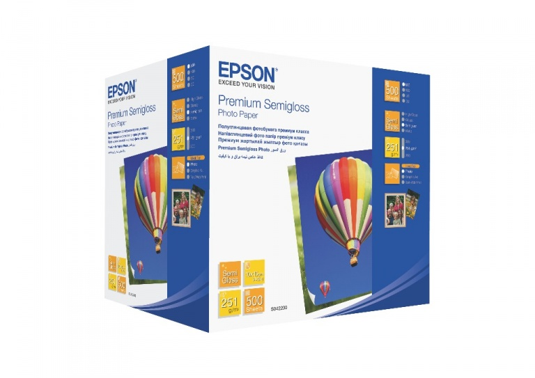 Бумага Epson Premium Semigloss Photo Paper (500 листов 10x15 см)